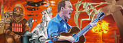 Dave Matthews Band Painting Originals - Dave Matthews The Last Stop by Joshua Morton