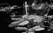 Carolyn Pettijohn - Dave McAfee - Toby Keiths Drummer - Poster - Black and White