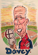 Mlb Mixed Media Prints - Davey Johnson Print by Paul Nichols