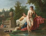 Famous Artists - David and Bathseba by Louis-Jean-Francois Lagrenee