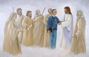 Entering Painting Prints - David and the Prophets Print by Carole Weaver
