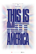Greeting Cards Digital Art - David Bawie - This Is Not America by David Davies