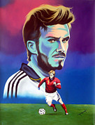 David Beckham Painting Originals - David Beckham by Hector Monroy by Hector Monroy