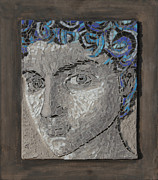 Portraits Ceramics Originals - David by Belka Alyss