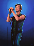 David Bowie Portrait Paintings - David Bowie 2  by Paul  Meijering