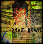 Aladdin Framed Prints - David Bowie Framed Print by Absinthe Art By Michelle LeAnn Scott