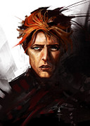 Alex Ruiz Metal Prints - David Bowie Metal Print by Alex Ruiz