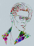 Music Art Paintings - David Bowie by Irina  March