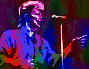Fame Metal Prints - David Bowie Metal Print by Jack Zulli
