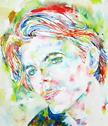 David Bowie Portrait Paintings - David Bowie Portrait by Fabrizio Cassetta