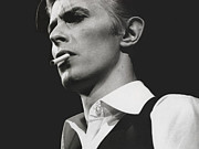 Pop Music Posters - David Bowie Portrait Poster by Sanely Great