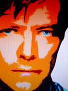 Lead Singer Painting Prints - David Bowie Print by Ryszard Sleczka