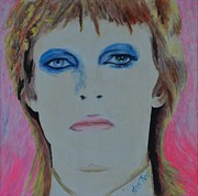 Singer Painting Originals - David Bowie by Shirl Theis