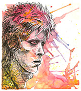 Rock Sculpture Mixed Media - David Bowie - Ziggy Stardust 01 by Ryan Irish