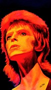 Singer Paintings - David Bowie - Ziggy Stardust by Shirl Theis