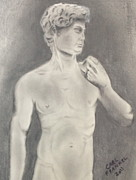 Michelangelo Drawings Prints - David Print by Carl Frankel