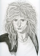 Singer Drawings - David Coverdale by Eva Ason