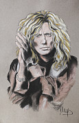 Singer Pastels Metal Prints - David Coverdale Metal Print by Melanie D