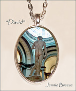 Art Museum Jewelry - DAVID-Custom Pendant by Jennie Breeze