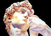 David Face By Michelangelo   Black Print by Joe Espinoza