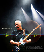 Lead Digital Art Prints - David Gilmour 2 Print by Peter Chilelli