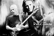 David Drawings Metal Prints - David Gilmour Metal Print by Andrew Read