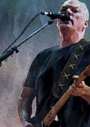 David Gilmour Concert 1 Print by Yury Malkov