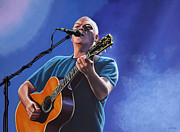 Singer Painting Prints - David Gilmour Print by Paul  Meijering
