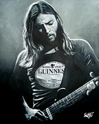 Classic Rock Art - David Gilmour by Tom Carlton