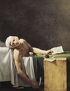 David; Jacques Louis (1748-1825) Metal Prints - David, Jacques-louis 1748-1825 Marat Metal Print by Everett