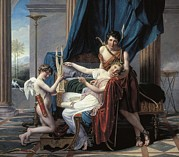Sappho Prints - David, Jacques-louis 1748-1825. Sappho Print by Everett