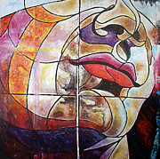 Abstract Face Paintings - David by Karina Llergo Salto