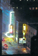 Times Square Nyc Digital Art Prints - David Letterman Show Theater on Broadway E5 Print by Bud Anderson
