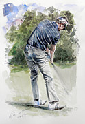 Golfer Prints Art - David Lynn by Mark Robinson