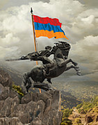 Armenia Prints - David Of Sassoun Print by Bedros Awak