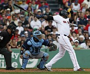 Boston Red Sox Framed Prints - David Ortiz Framed Print by Sanely Great