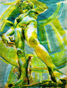 Michelangelo Mixed Media Prints - David revisited Print by Charles M Williams