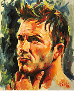 David Beckham Painting Originals - David by Tachi Pintor