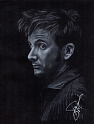 David Drawings Metal Prints - David Tennant 3 Metal Print by Rosalinda Markle