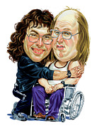 Television Paintings - David Walliams and Matt Lucas as Lou and Andy by Art