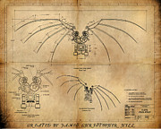 Davinci's Wings Print by James Christopher Hill