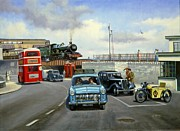 Nostalgia Paintings - Dawlish summer. by Mike  Jeffries