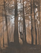 Awakening Pastels Prints - Dawn Print by Albert Casson