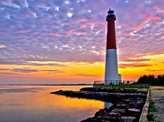 Sunrise Lighthouse Prints - Dawn at Barnegat Lighthouse Print by Mark Miller