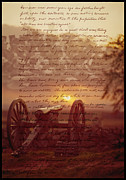 Gettysburg Digital Art Framed Prints - Dawn At Gettysburg Framed Print by Gary Grayson