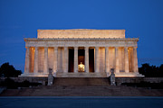 Lincoln Photos - Dawn at Lincoln Memorial by Brian Jannsen