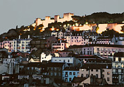 Hilltown Posters - Dawn at St. George Castle Lisbon Poster by Linda  Parker