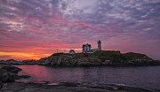 Steven Ralser Posters - Dawn at the Nubble Poster by Steven Ralser