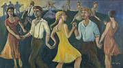 Thomas Benton Posters - Dawn Dance Poster by Laura Lee Cundiff
