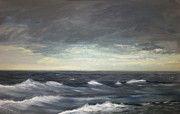 Seascape Tapestries - Textiles Framed Prints - Dawn from the Bridge of the St. Columba Framed Print by Ian Scott-Taylor